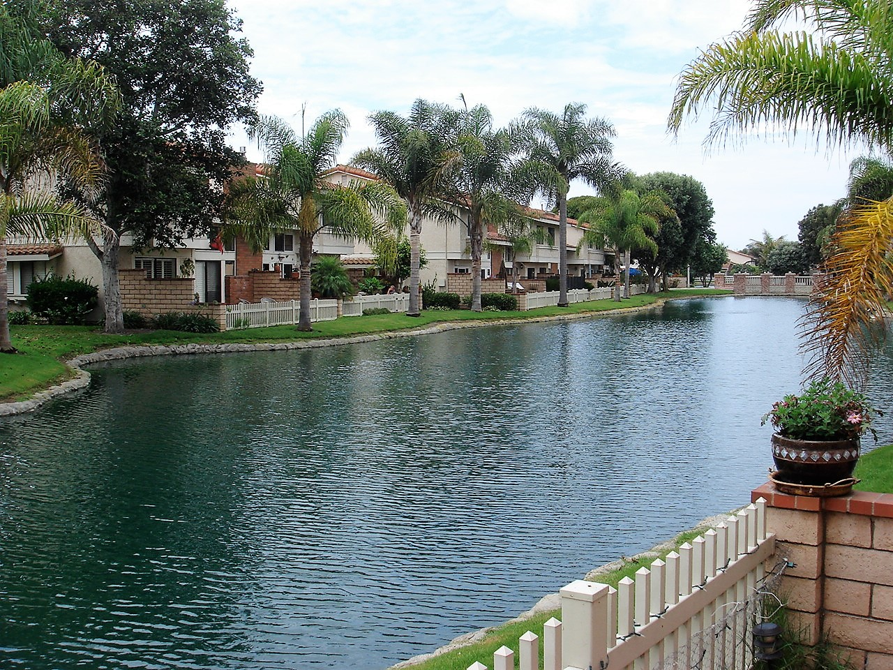 seaside village townhomes view of lagoon